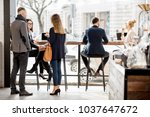 business people having a... | Shutterstock . vector #1037647672