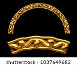 "ornamental segment  ""dough"" ... | Shutterstock . vector #1037649682"