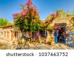 old datca street view in datca. | Shutterstock . vector #1037663752
