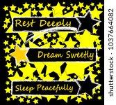 good night. stars. shooting... | Shutterstock .eps vector #1037664082