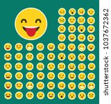 emoji icon . emoji icon set ....   Shutterstock .eps vector #1037672362