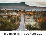 stunning autumn scenic view...   Shutterstock . vector #1037685232