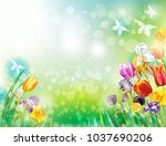 background with multicolor... | Shutterstock .eps vector #1037690206