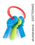 plastic toy keys isolated ... | Shutterstock . vector #1037703442