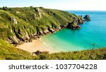guernsey coastline with sea and ...   Shutterstock . vector #1037704228