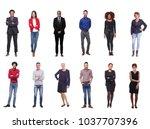 group of happy people | Shutterstock . vector #1037707396