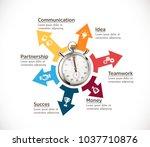 time management concept  ... | Shutterstock .eps vector #1037710876