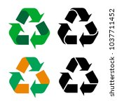 original recycle icons in...   Shutterstock .eps vector #1037711452
