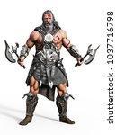 Fierce Armored Barbarian...