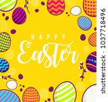happy easter background design... | Shutterstock .eps vector #1037718496