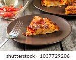 tortilla de patatas. spanish... | Shutterstock . vector #1037729206