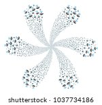 space antenna twirl spin.... | Shutterstock .eps vector #1037734186