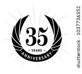 35 years anniversary. elegant... | Shutterstock .eps vector #1037736352