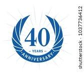 40 years anniversary. elegant... | Shutterstock .eps vector #1037736412