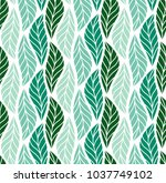 vector leaf seamless pattern.... | Shutterstock .eps vector #1037749102