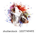vector color illustration of a... | Shutterstock .eps vector #1037749495