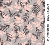 a seamless pattern with foliage ... | Shutterstock .eps vector #1037751805
