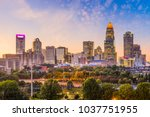 charlotte  north carolina  usa... | Shutterstock . vector #1037751955