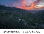 mystical sunset over the...   Shutterstock . vector #1037752732