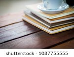 selective focus book blurred... | Shutterstock . vector #1037755555