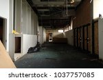 interior of an abandoned and...   Shutterstock . vector #1037757085