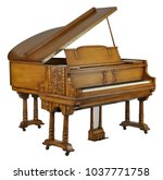 Brown Piano With Clipping Path.