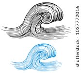 an image of a ocean wave... | Shutterstock .eps vector #1037772016