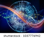 technology of numbers series....   Shutterstock . vector #1037776942