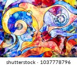 stained glass forever series.... | Shutterstock . vector #1037778796
