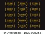 movie award best feature film...   Shutterstock .eps vector #1037800366