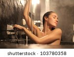 Beautiful Woman Having A Bath...