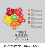 circles and other elements for... | Shutterstock .eps vector #1037812312