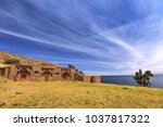 island of the moon  isla de la... | Shutterstock . vector #1037817322