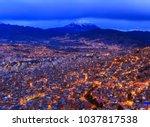 night view of la paz  bolivia | Shutterstock . vector #1037817538