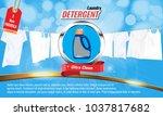 laundry detergent ads template... | Shutterstock .eps vector #1037817682