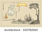 pirate map | Shutterstock . vector #103782065