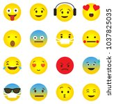 emoji icon collection with... | Shutterstock .eps vector #1037825035
