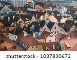 a view from the air to... | Shutterstock . vector #1037830672
