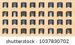 italy  rome. wooden windows... | Shutterstock . vector #1037830702