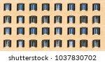 italy  rome. wooden windows... | Shutterstock . vector #1037830702