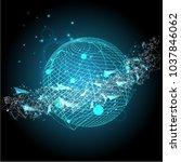 global network connection....   Shutterstock .eps vector #1037846062