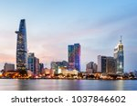 ho chi minh city skyline and... | Shutterstock . vector #1037846602
