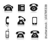 different icons with phone... | Shutterstock .eps vector #103785338