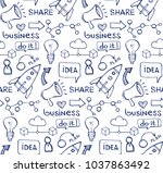 hand drawn doodle business... | Shutterstock .eps vector #1037863492