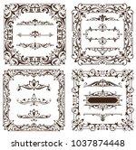 vintage design elements... | Shutterstock .eps vector #1037874448