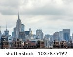 the financial and residential... | Shutterstock . vector #1037875492
