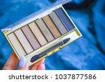 eye shadow in the brown palette ... | Shutterstock . vector #1037877586