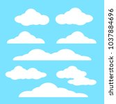 cloud vector icon set white... | Shutterstock .eps vector #1037884696