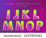 kids vector font in cartoon... | Shutterstock .eps vector #1037893462