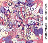 tracery seamless pattern.... | Shutterstock .eps vector #1037897926